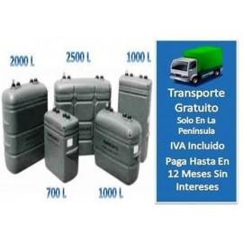 Depósito Gasoil Interior 700 Litros  Confort Gris