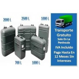 Depósito Gasoil Interior 2000 litros  Confort Gris