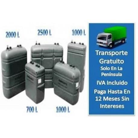Tanque Interior 2000 litros Gasoil Confort Gris